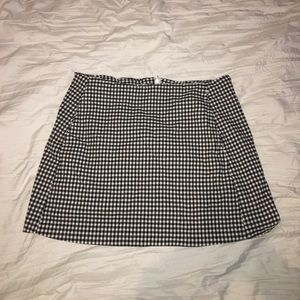 Gingham mini skirt with pockets
